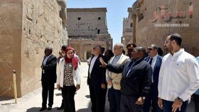 صورة رئيس موزمبيق يزور المعالم السياحية والأثرية بالأقصر