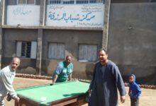 صورة اللؤاء هارون ابوسحلى …دعم مركز شباب الرزقة بابوتشت باجهزة رياضية